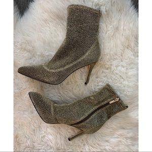 Sam Edelman Olson gold booties 8.5 heels